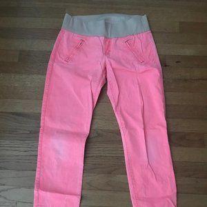 GAP Pink Demi-Band Skinny Maternity Pants